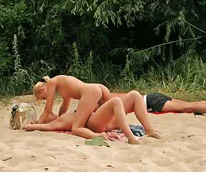 A busty babe getting it at the Costa Natura