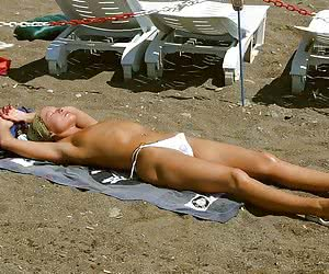 A slim and busty slut on the Costa Natura