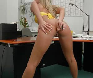 Waht can i do solo in my officePlay with my dildos, anal too