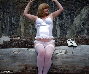 Went for a hike up a mountain to a marble stone quarry, I brought my naughty lingerie with me ,so I could feel sexy at t