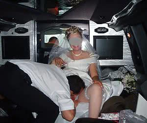 Absolutely drunken bride sucks two cocks at once and swallow.