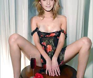 Emma Watson looks hot in her underwear... and really hot without it!