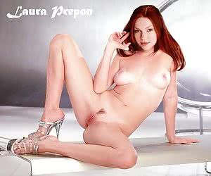 Hot Laura Prepon posing nude and even playing with herself on camera!