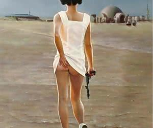 Hot photos of Carrie Fisher aka Princess leia posing nude for the Galaxy!
