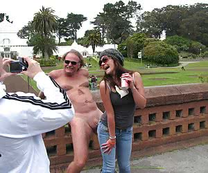 Fantastic Clothed Women and Naked Guys gallery
