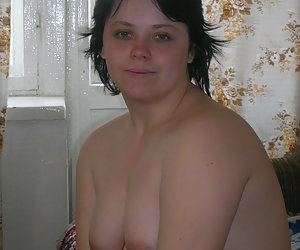 I like shooting this sexy plump young woman on my digital camera.