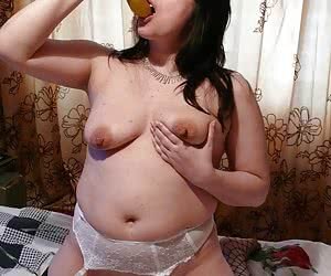 My new sexy a little fat wife likes exposing her pudgy smelly pussy and breasties to me.