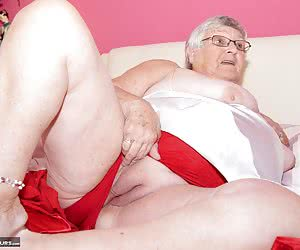 Heres a set from the Archives, I shot Back in April 2012 its your favourite Grandma, Libby Ellis and shes on the bed in