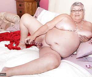 Heres a set from the Archives, shot back in April 2012, its your favourite Grandma, Libby Ellis and shes on the bed in h