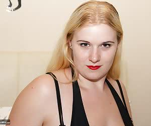 Hi Im Mona Summers and its time to play, Im wearing a very skimpy little black party dress and as Im a naughty girl No K