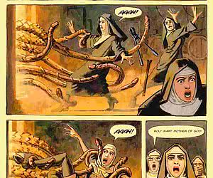Perverted nuns in the comics `Convent Of Hell`