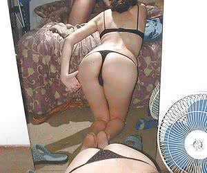 Content from hacked social network of real ex girlfriend posing in the mirror