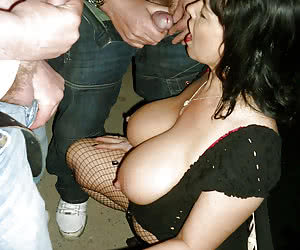 Horny mature moms flashing and fucking in the night