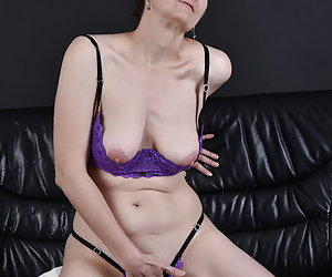 In a nice set.Purple lingerie with a nice breast lift.Since my tits come out nice.