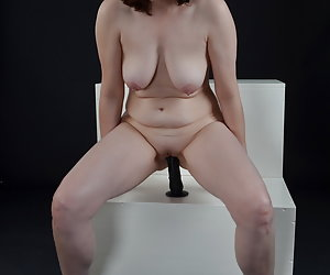 In the photo studio sometimes some properly cool pictures made Ride on a Dildo. Has fixed him with the sucker and lowers