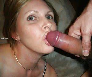 Hot girlfriend giving blowjob and swallowing cumshot