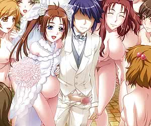 Nice wedding day with group sex