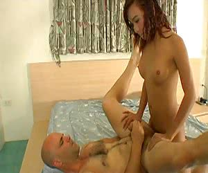 Asian shemale sweetie fucked after nice titjob