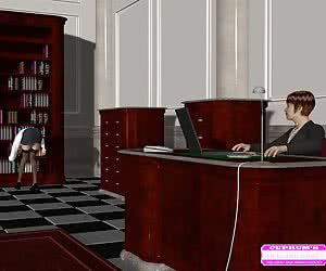 Boss lady and her secretary in the office