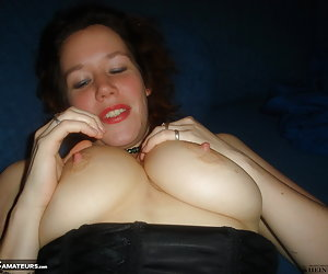 Amateur snapshot pictures of Jessica changing cloths and inserting a dildo in her pussy.