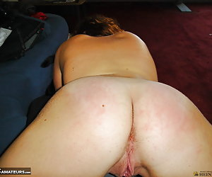 Amateur snapshot pictures of voluptuous big tits redhead Jessica showing how she loves showing her bare ass and nude bod