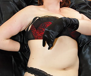 Redhead Jessica likes to tease and show her big tits.
