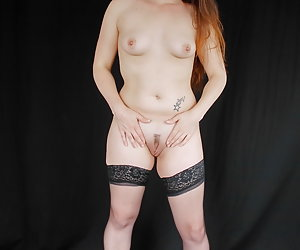 Zo Davis teasing and taking off her lingerie.