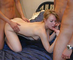 Horny matures MMF threesome pics