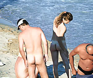 Hot naked titties and pussies all over the nudist beach