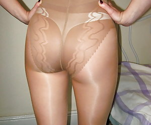 Girls show their ass in pantyhose collection