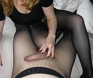Real amateurs having wild sex both, man and woman are in pantyhose