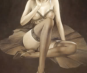 Beautiful pinup girl poses in tight silver dress