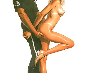 Busty blonde girl gets aroused by handsome police officer