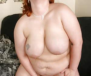 Fat redhead with huge ass and boobs