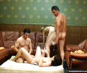 Horny swingers doing crazy things in closed party