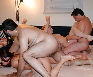 Swinger wife sharing action gal