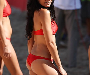 Beach, street, and home photos of ordinary babes in thongs