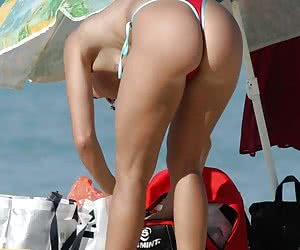 Street and home voyeur pictures of hot babes wearing thongs