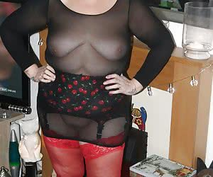 I really love these super sexy red stockings, that a fan sent me for Christmas. His request was that I just look fab in