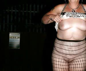 Just popped out of the party for a bit of fun flashing in the car park.