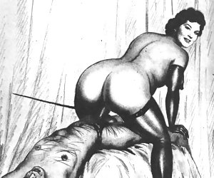 A godlike beauty of a naked female body was praised by this vintage porn cartoon.