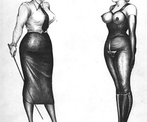 Amazing legs ancient females had are lustily drawn in these vintage sex cartoons.
