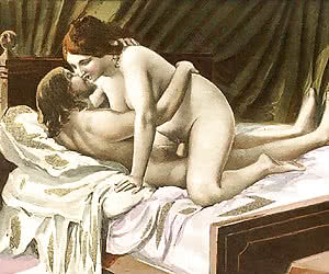 Amazing lust and dirt was also known in retro porn drawing.