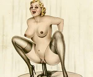 Big booty girls don't hesitate to show off in those vintage porn comics.