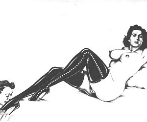 Fetish and BDSM style retro porn drawings won't leave any history fan disappointed.