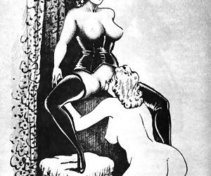 Hardcore pussy teasing and violence is oozing from these vintage erotic cartoons.