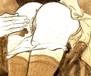 Hardcore teasing and squeezing is in this vintage cartoon porn.