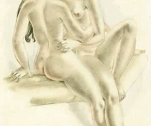 Hot and disgusting retro porn drawings may turn anyone into an old fashion sex fan.