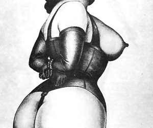 Hot vintage porn cartoons models are showing their large breasts and hairy pussies.