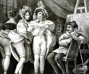 Lots of anal sex and ass fucking was happening on these retro porn drawings.